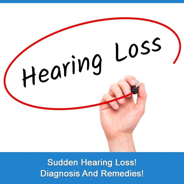 Sudden Hearing Loss! Diagnosis and Remedies